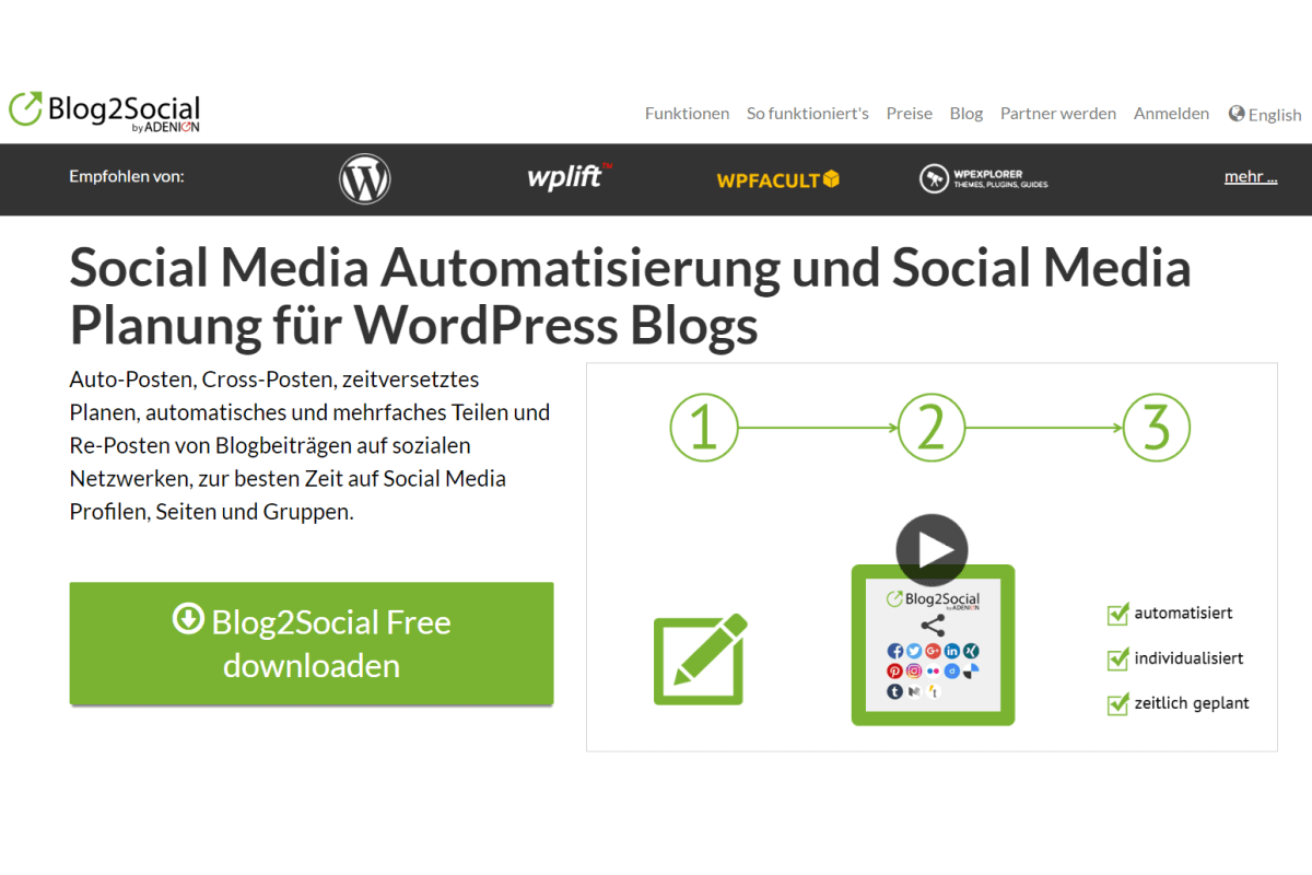 Blog2Social: Social Media Schedule&Auto-Post – WordPress-Plugin im Test