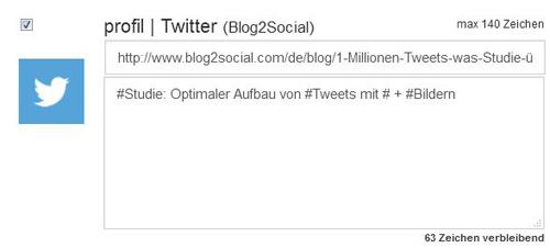 Optimaler Aufbau eines Tweets