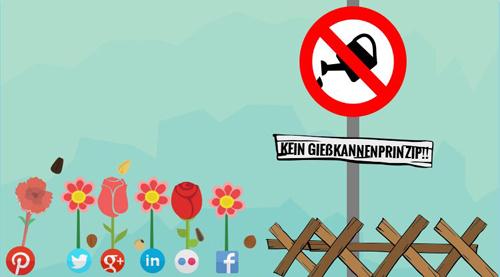 Social Media Managemnt sollte ohne das berüchtigte Gießkannenprinzip betrieben werden