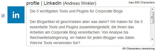 LinkedIn Post Deutsch