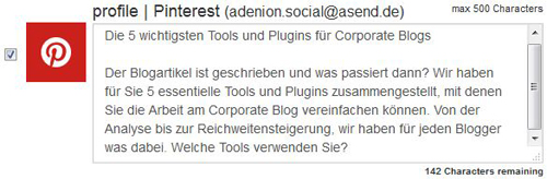 Post bei Pinterest