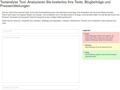 Textanalyse Tool