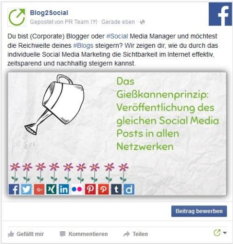 Social Media Posts individualisieren – Beispiel Facebook