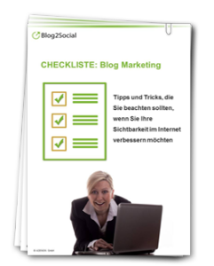 Checkliste Blog Marketing