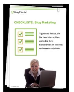 Checkliste Blog Marketing