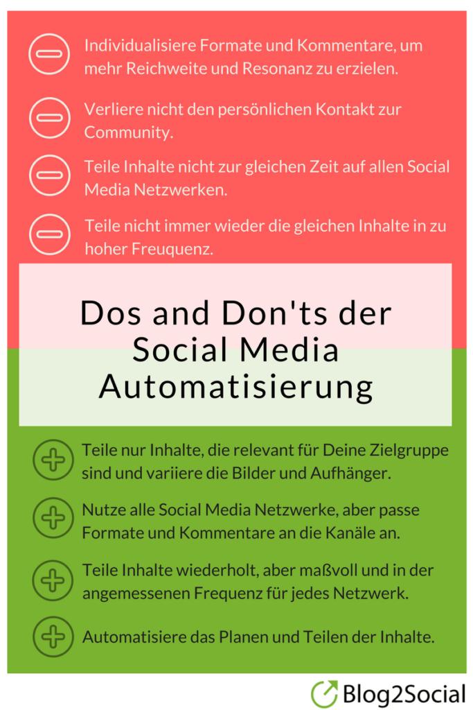 Dos und Donts der Social Media Automatisierung