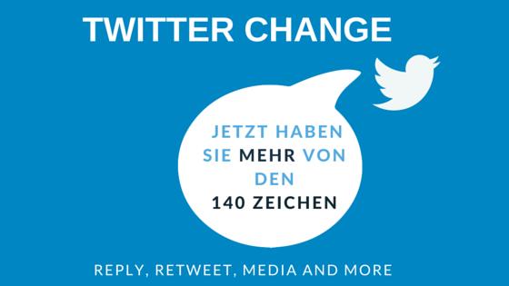 Twitter Change - jetzt haben Sie mehr von den 140 Zeichen