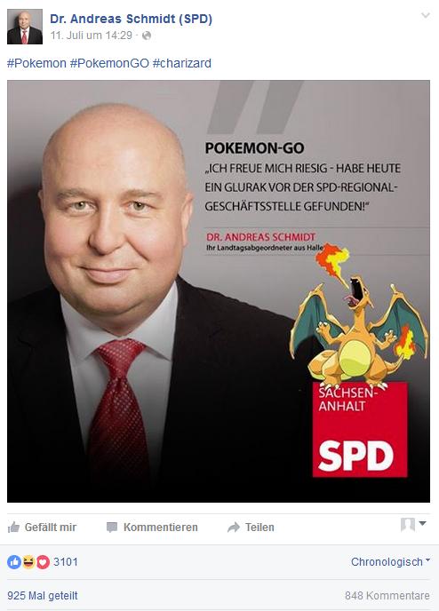 Dr. Andreas Schmidt Pokemon GO