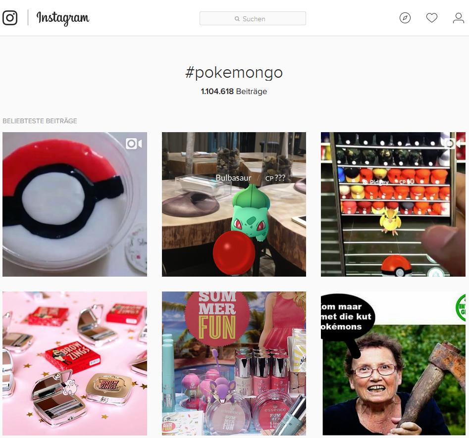 Instagram Pokemon GO
