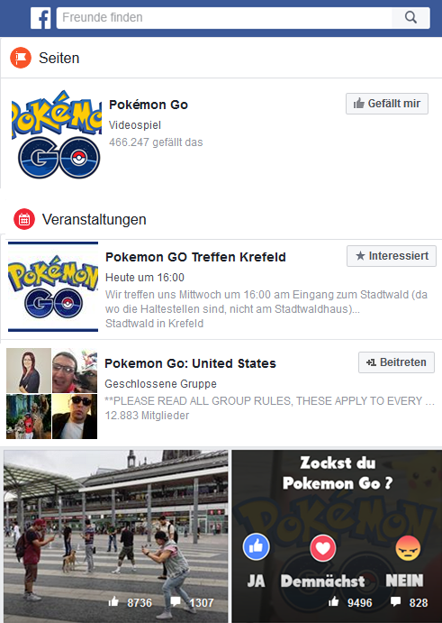 PokemonGo Facebook