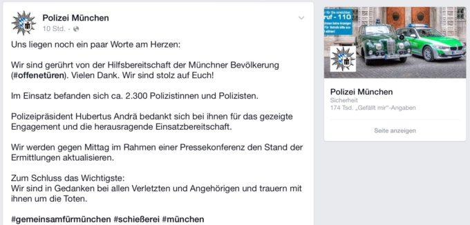 Krisen-PR der Polizei München