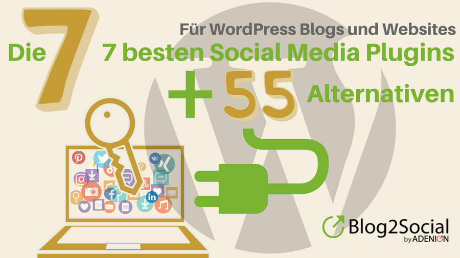 Die 7 besten Social Media Plugins für Wordpress + 55 Alternativen
