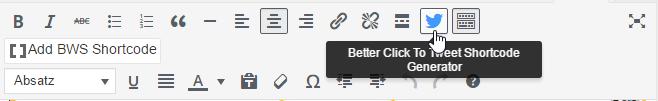 Beispiel Social Media Plugins: Better Click2Tweet Button