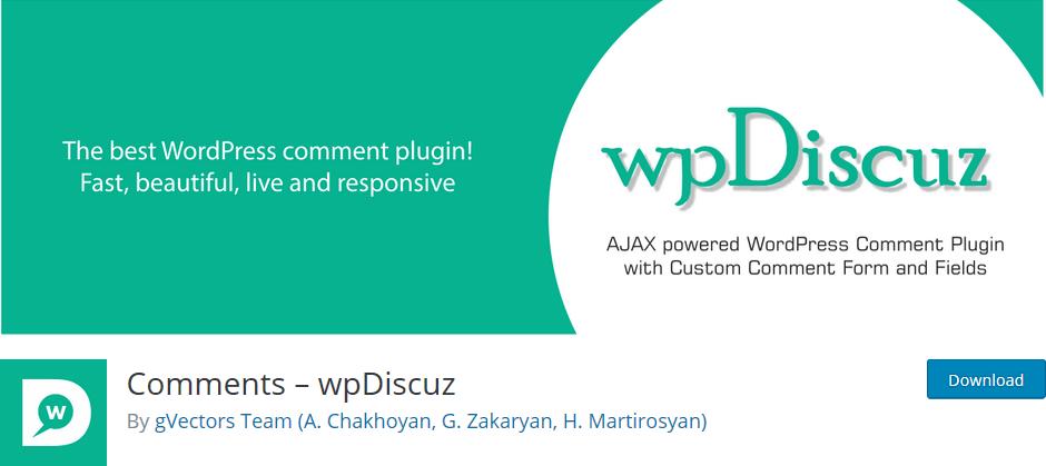 Social Media Plugins für Kommentare: WP Discuz