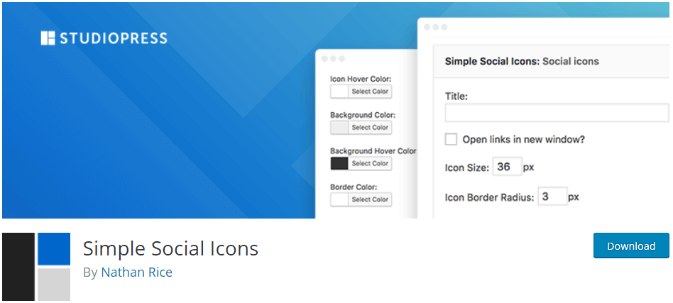 Wordpress Plugins Simple Social Icons
