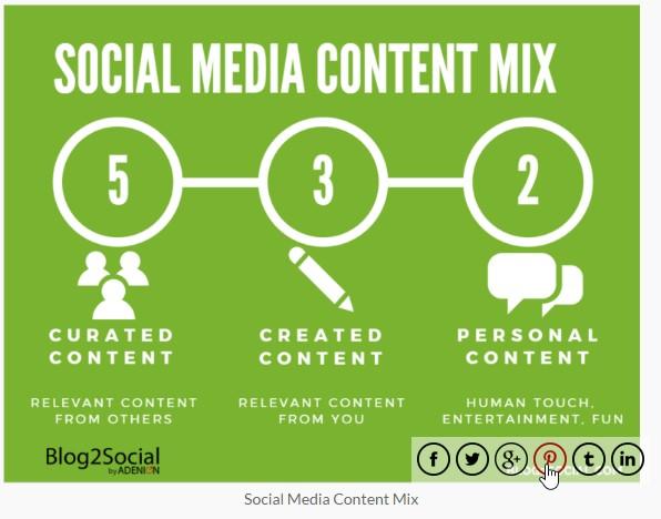 Beispiel Social Media Plugins: WWM Social Share On Image Hover