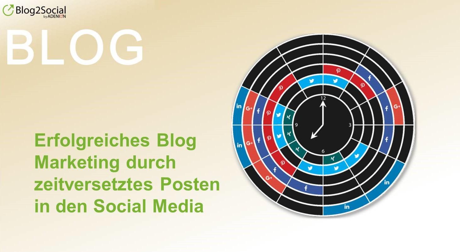 Erfolgreichen Blog Marketing durch zeitversetztes Posten