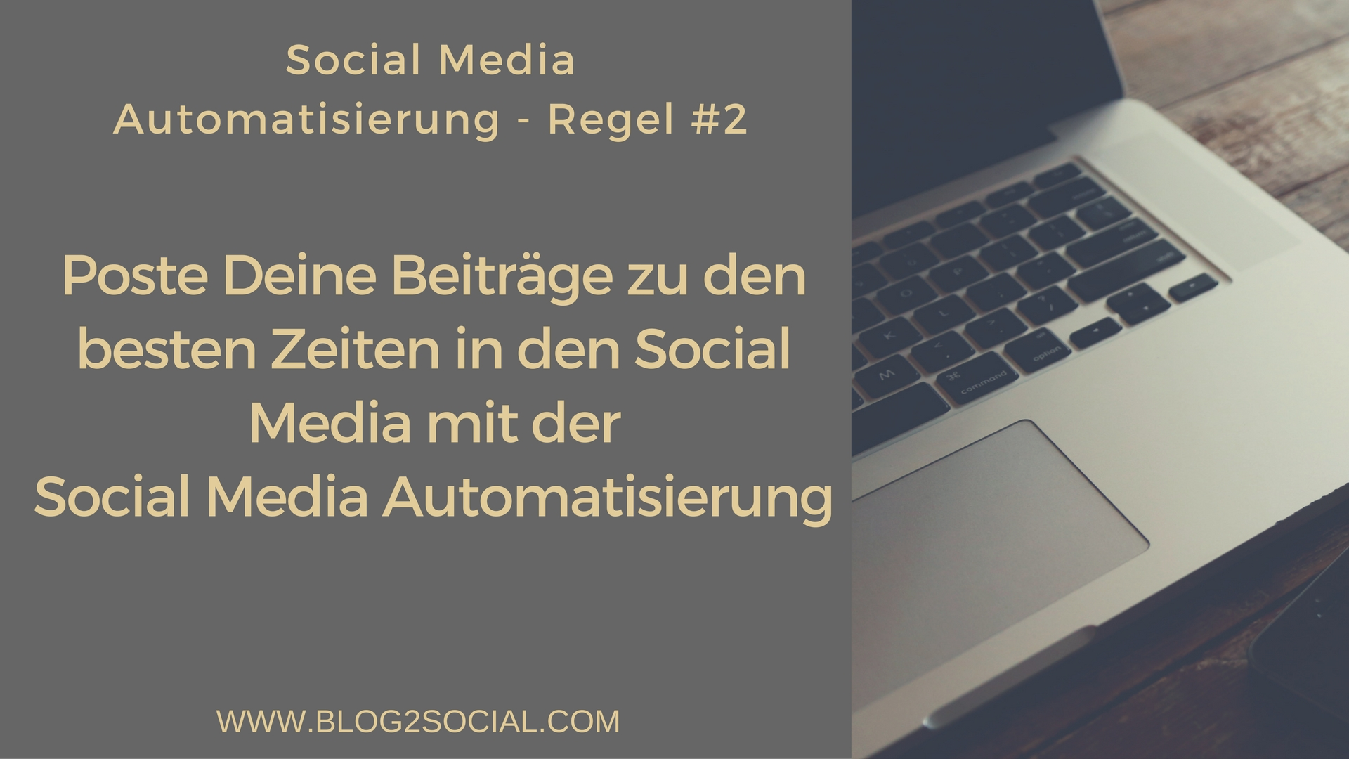 Cross Social Media Automatisierung mit optimierten Social Media Posts
