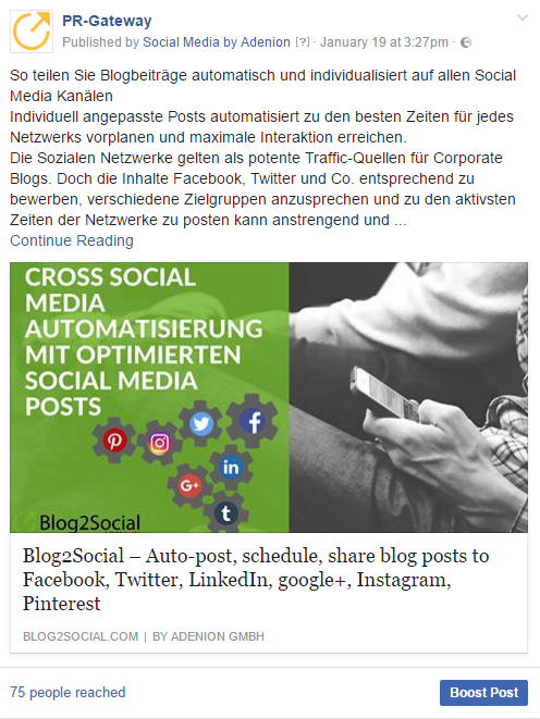 Facebook Link-Post