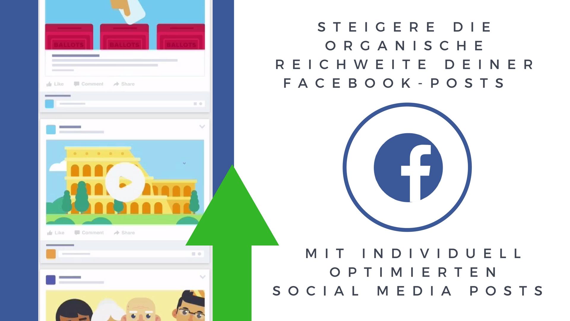 Steigere die organische Reichweite Deiner Facebook-Posts mit individuell optimierten Posts