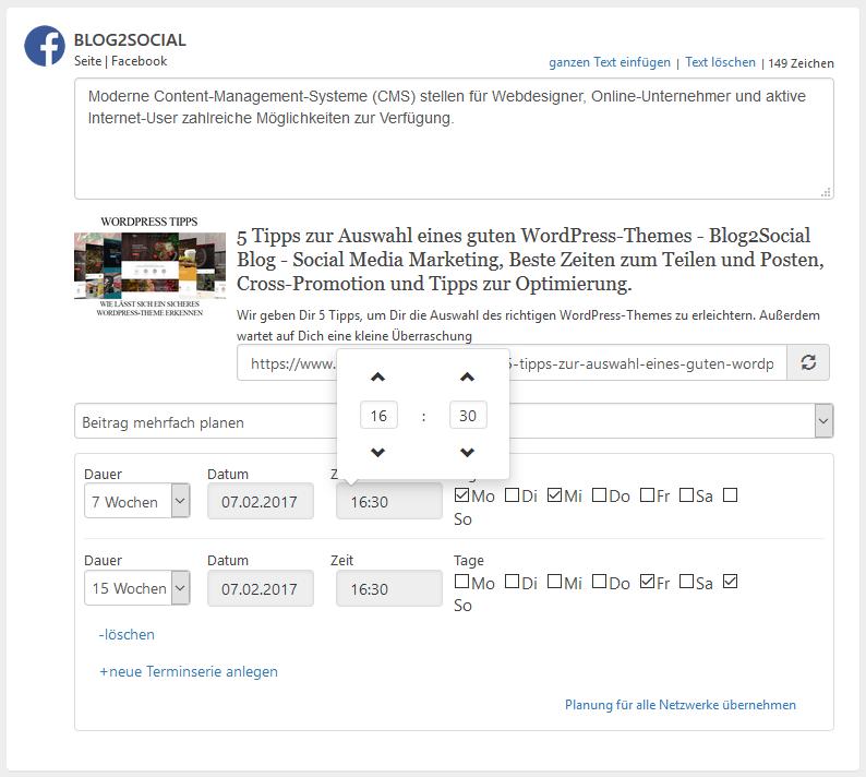 Blog2Social: Steigere die Reichweite Deiner Facebook-Posts mit individuell optimierten Posts