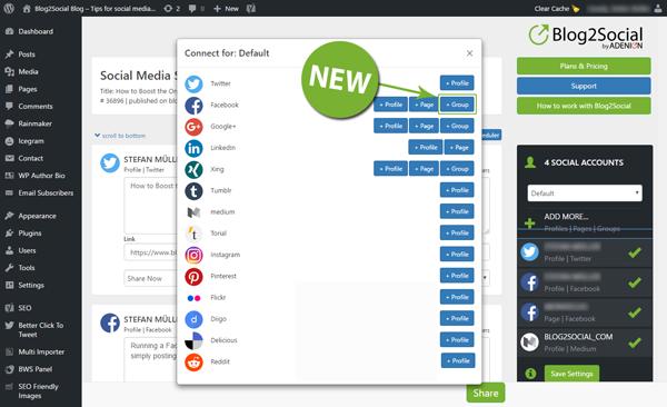 Verbinde deinen Blog mit Facebook für das Auto-Posting und teile automatisch auf Deinen Profile, Unternehmensseiten und Gruppen
