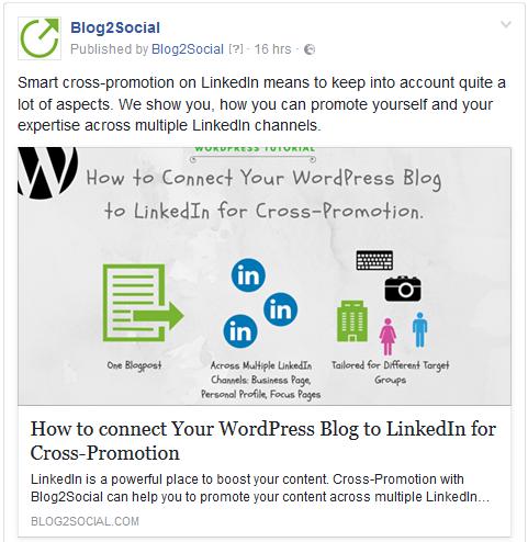 Veröffentliche Deine Facebook Posts im Link-Format mit Blog2Social