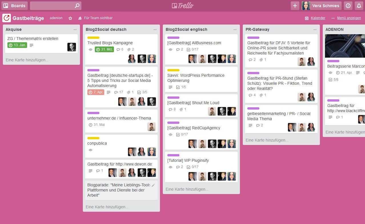 Essentielle Tools und Plugins für Corporate Blogger - Übersichtliche Arbeitsabläufe & Redaktionsplanung mit Trello