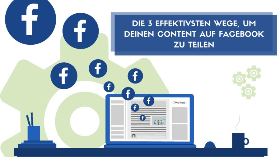 Die 3 effektivsten Wege, um Deine Facebook Beiträge zu promoten