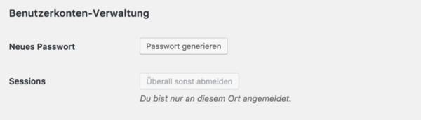 Abbildung1: Ein neues Passwort generieren