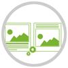 Individuelles Posting-Format: Beim Teilen auf Facebook und Twitter können zwei unterschiedliche Darstellungsweisen des Posts ausgewählt werden, die den Fokus entweder auf das geteilte Bild oder den Link legen.