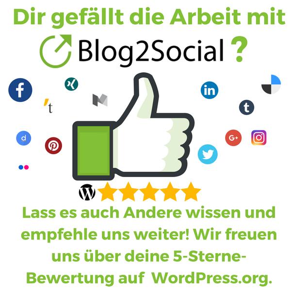 Berichte Anderen über Deine Erfahrung mit Blog2Social