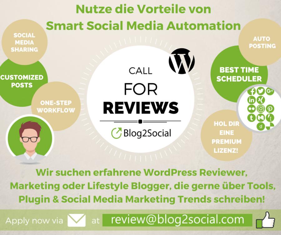 Berichte von Deinen Erfahrungen mit Blog2Social