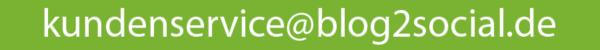 Kundenservice Blog2Social