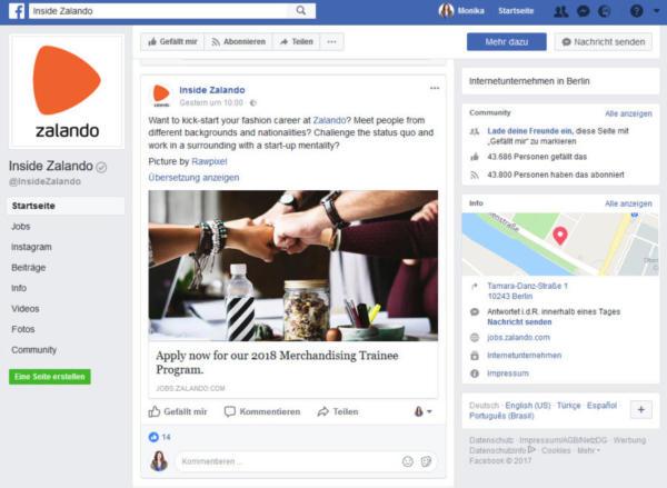 Zalando setzt sich für Chancengleichheit ein. So ein Thema passt besonders gut zur Facebook-Community.