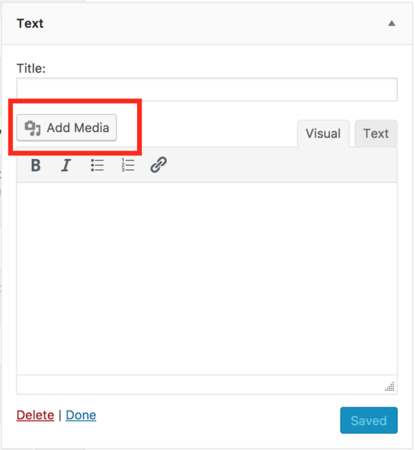 WordPress 4.9 Text-Widget