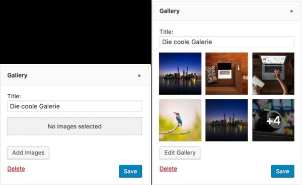 WordPress 4.9 Galerie-Widget