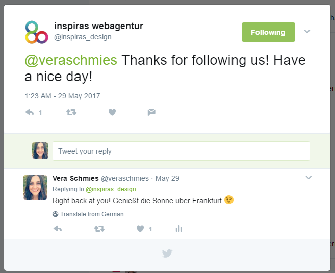 Twitter-Tipps: Bleib aktiv und reagiere auf alle Nennungen, Likes, Retweets und Kommentare