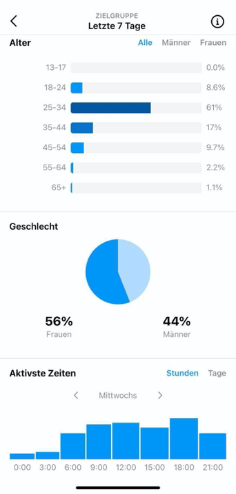 Instagram Insights Zielgruppe