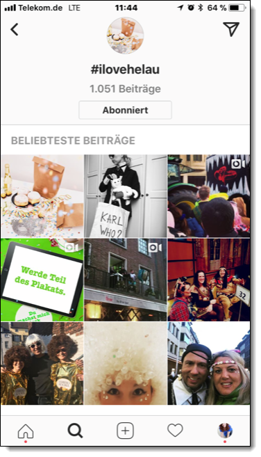 Instagram Marketingaktion #ilovehelau