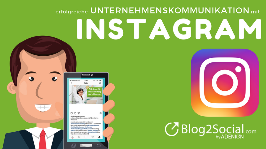 erfolgreiche unternehmenskommunikation mit instagram blog2social blog social media marketing. Black Bedroom Furniture Sets. Home Design Ideas