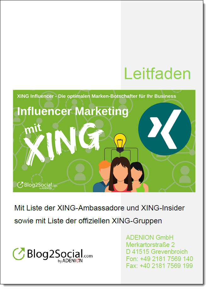 Influencer Marketing mit XING