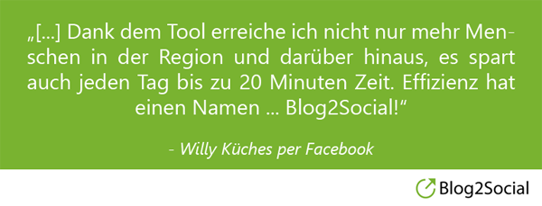 Willy Küches über Blog2Social