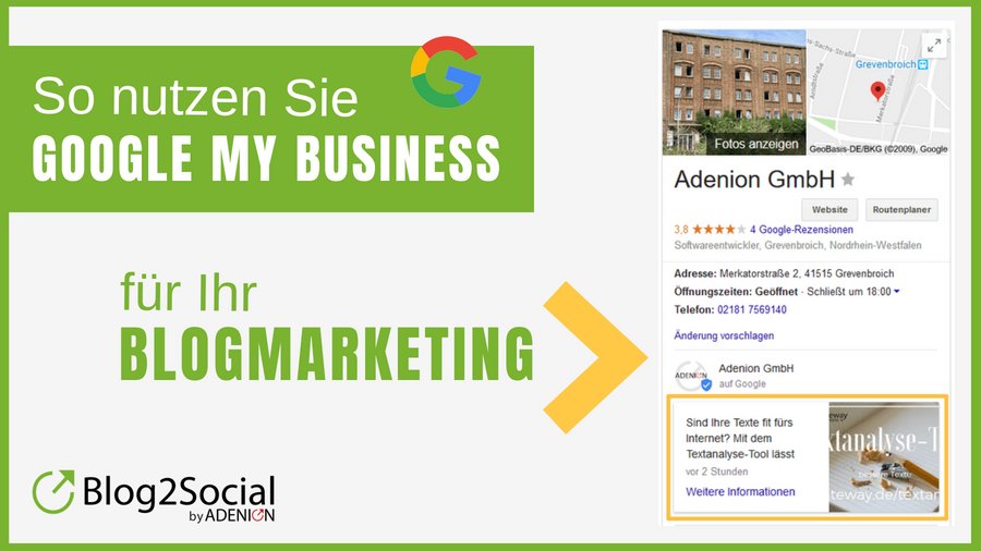 Google My Business für Ihr Blogmarketing