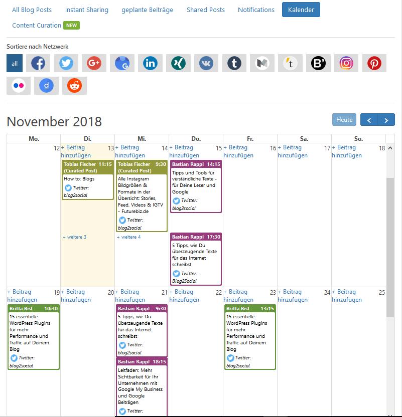 Per Drag & Drop im Social Media Kalender planen