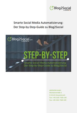 Step-by-Step-Guide zu Blog2Social