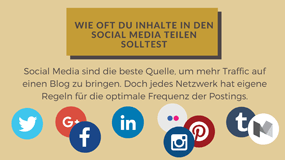 Wie oft Sie Blogbeiträge in den Social Media teilen sollten