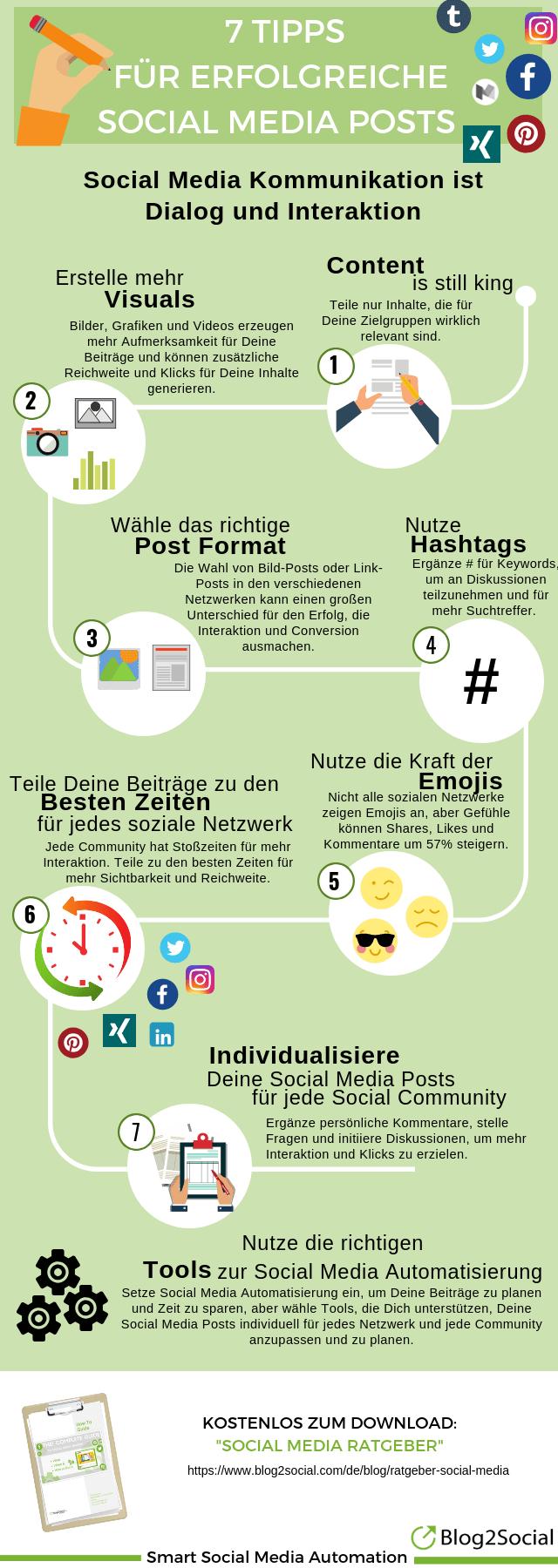 7 Tipps für erfolgreiche Social Media Posts