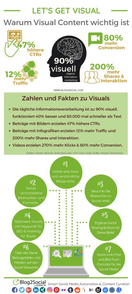 [Infografik] Warum Visual Content wichtig ist 7 Tipps