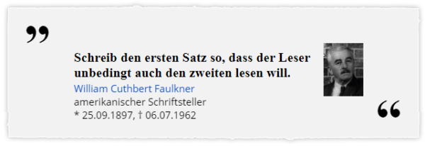 Zitat William Faulkner